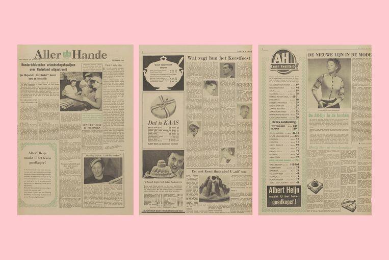 De eerste Allerhande, het blad van supermarkt Albert Heijn, kwam uit in 1954. Beeld Stichting Albert Heijn Erfgoed
