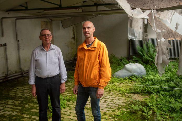 Davidsfonds voorzitter Jos Liessens en curator Tom Verhoeven.
