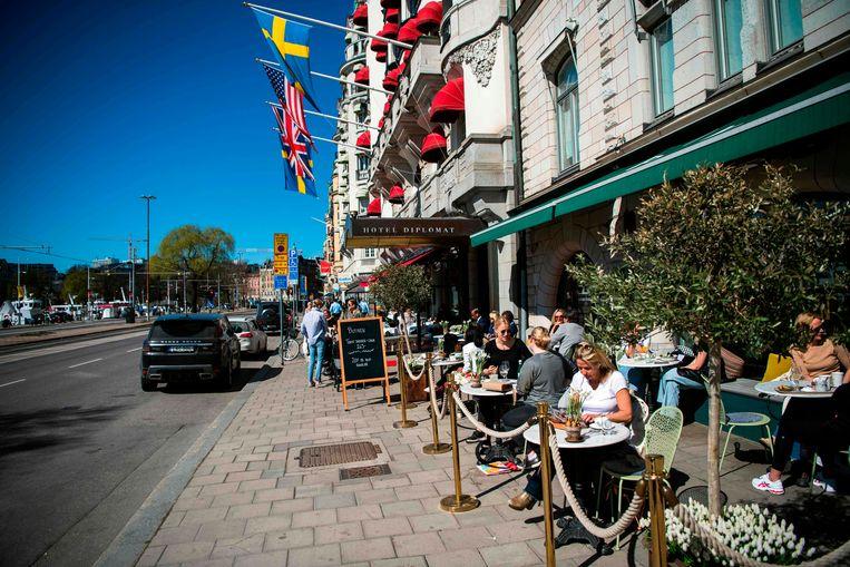 Stockholm, waar de meeste slachtoffers vielen.  Beeld AFP