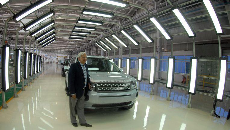 De Land Rover-fabriek in India. Beeld EPA