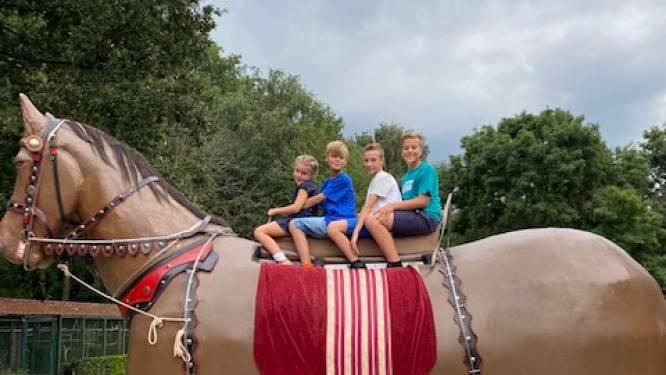 """6-jarige Céleste is eerste meisje dat als heemkind met Duffels Ros Beiaard mag rijden: """"Leuk dat ik op een neppaard mag zitten. Paarden zijn mijn lievelingsdieren!"""""""