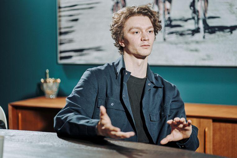 Acteur Tijmen Govaerts ('Muidhond', 'Kom hier dat ik u kus'): 'Spitse levenswijsheden.' Beeld Thomas Sweertvaegher