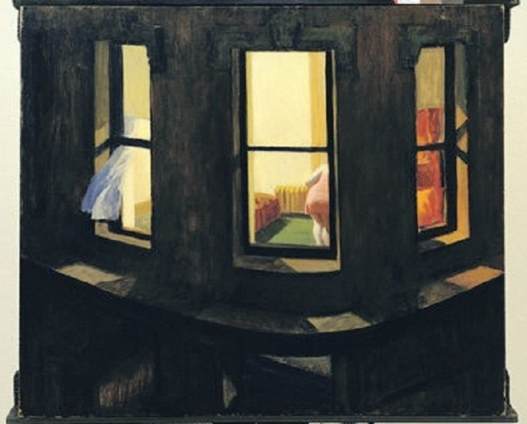 Edward Hopper, Night Windows,1928. Beeld -