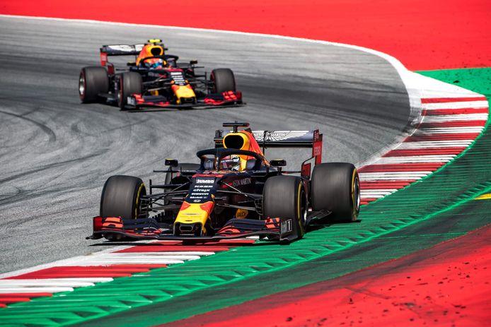 Max Verstappen tijdens de GP van Oostenrijk van vorig jaar.