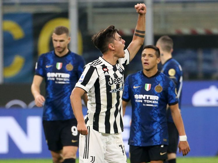 Juventus pakt in slotminuut een punt bij Internazionale