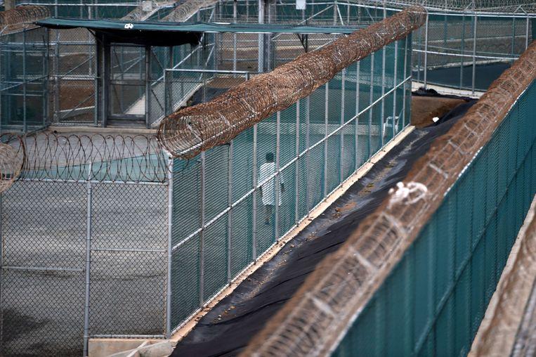 Een archieffoto van Guantanamo Bay, de gevangenis op Cuba waar de VS terreurverdachten vasthouden. Beeld AFP