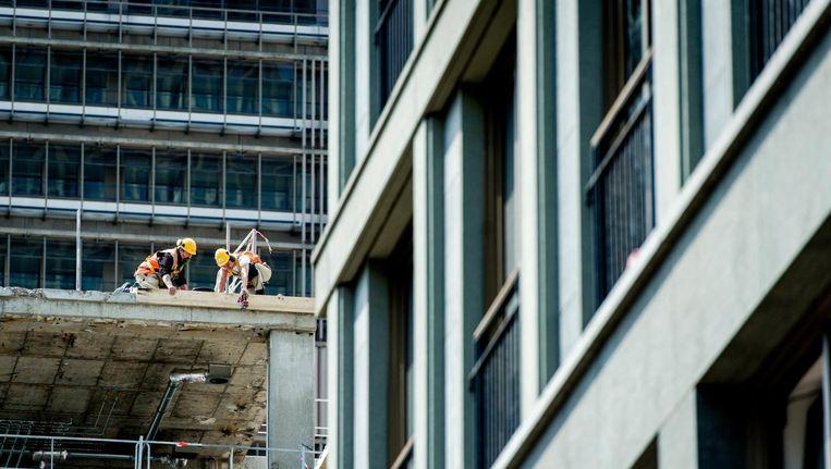 Een bouwterrein in Den Haag. Beeld anp