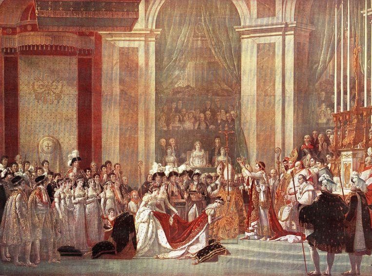 Napoleon Bonaparte heeft zichzelf gekroond tot keizer in de Notre-Dame in 1804.