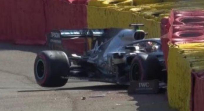 De crash van Hamilton.