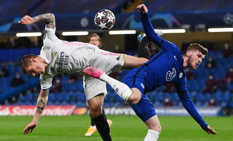 Chelsea klopt Real Madrid en staat na negen jaar weer in finale van de Champions League. Beeld EPA