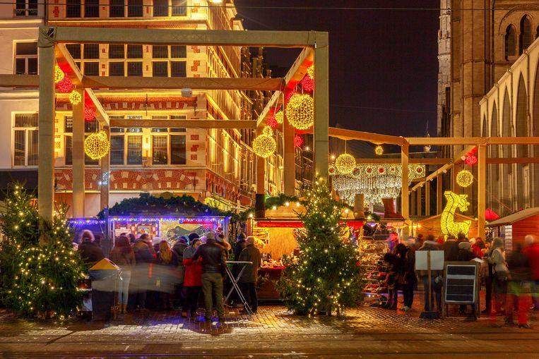 Een feeërieke kerstsfeer in Gent. Beeld Thinkstock