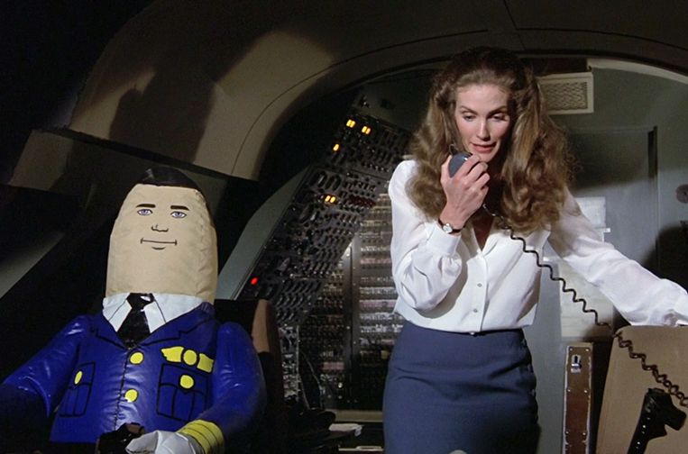 Een beeld uit de film 'Airplane'. Beeld rv