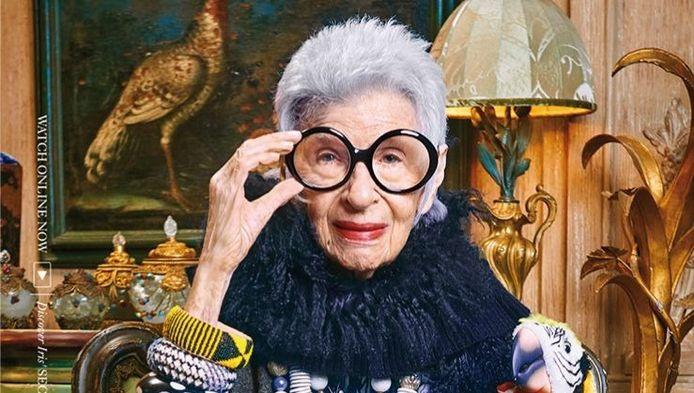 De 94-jarige Iris Apfel is het gezicht van Blue Illusion.