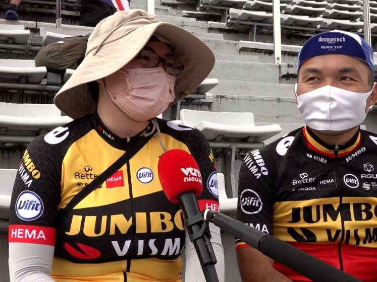 """Japans koppel supportert voor Van Aert: """"Hij is heel sterk én knap"""""""