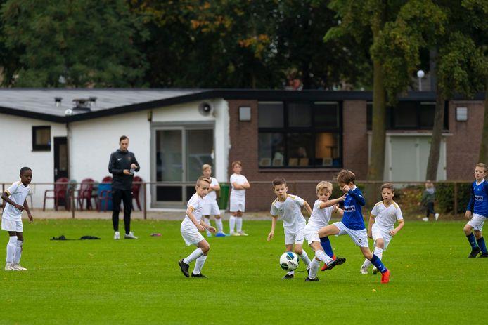 De jeugd onder tien in actie bij The White Boys uit Waspik. De club verkeert in zwaar weer en de ondergang lijkt nabij.