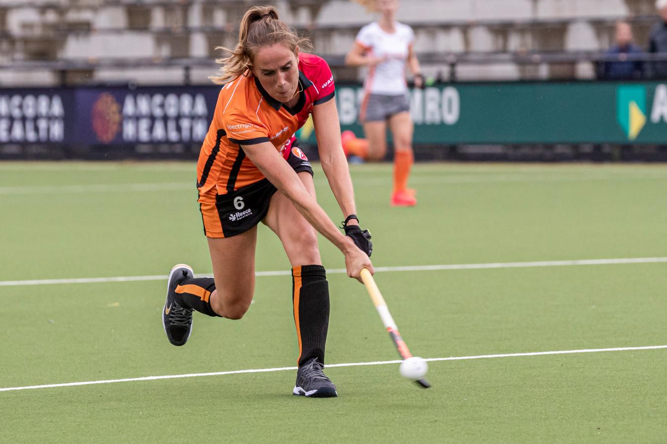 Daphne van der Velden (hier op archiefbeeld) speelde haar laatste duel voor Oranje-Rood