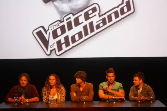 Marco, Trijntje, Nick & Simon en Roel tijdens de perspresentatie
