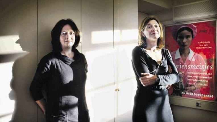 Ingrid Meurs (links) en Tanja Hendriks van Artemis. ( FOTO JEAN-PIERRE JANS) Beeld