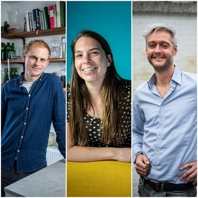 V.l.n.r.: Sijbren Bartlema (32), Astrid Slootweg (32) en Roy van Ammers (38).