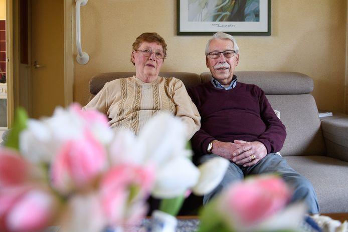 Het echtpaar Lueksen (60 jaar getrouwd).