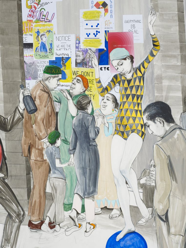 Charles Avery , Untitled (City wall market scene). Beeld Charles Avery, Courtesy of the artist and GRIMM Amsterdam   New York