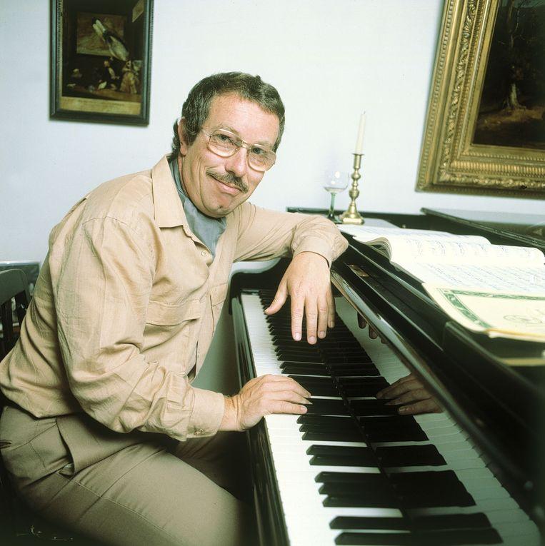 Pianist Louis van Dijk in 1980.  Beeld ANP Kippa