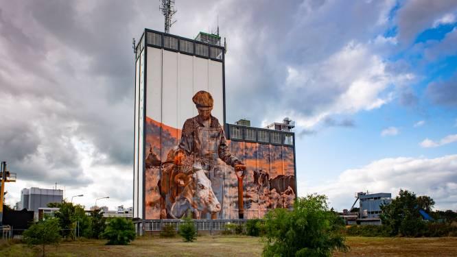 Indrukwekkende muurschildering van Miel (37) op Lochemse silo is na weken bijna klaar: 'Heb de grootte verkeerd ingeschat'