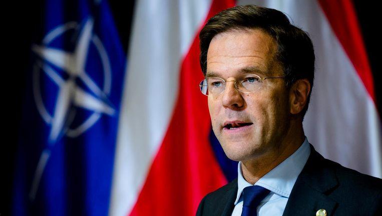 Rutte gaat ook in op de kritiek van regeringspartij PvdA Beeld anp