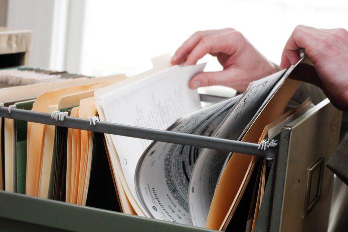 Het stedenbouwkundige archief wordt uitgezuiverd en gedigitaliseerd.