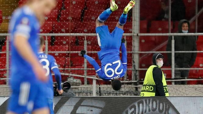 Zambiaan Daka blinkt uit voor Leicester tegen Quincy Promes met vier doelpunten op rij