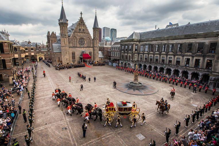 Prinsjesdag op het Binnenhof.  Beeld ANP