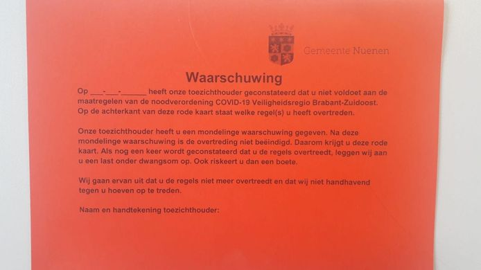 Rode kaart van de gemeente Nuenen.