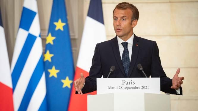 Macron roept Europeanen op niet meer naïef te zijn tegenover VS en respect af te dwingen