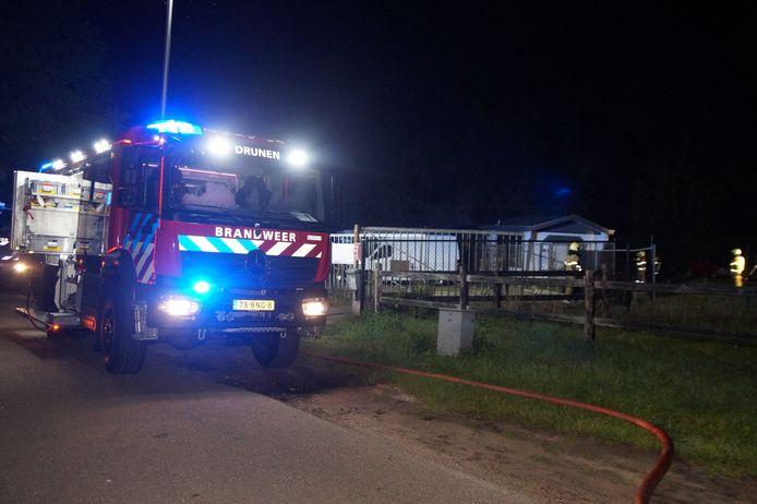 De brand in een stacaravan en bouwkeet in Drunen.