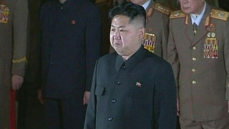 Kim Jong-un rouwt om zijn vader. Beeld reuters