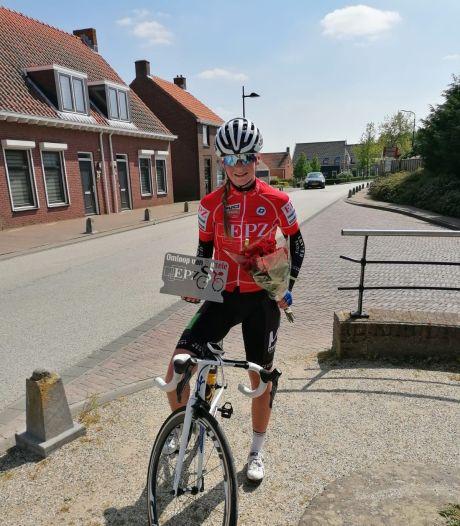 Quinty van de Guchte fietst op eigen houtje EPZ Omloop van Borsele