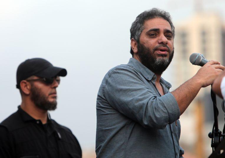 Fadel Shaker (rechts).  Beeld Hollandse Hoogte/AFP