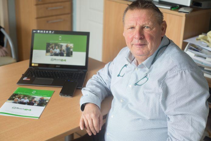 Rudi Smets uit Bilzen stelt de app Buurtpreventie24 voor een veiliger buurt.