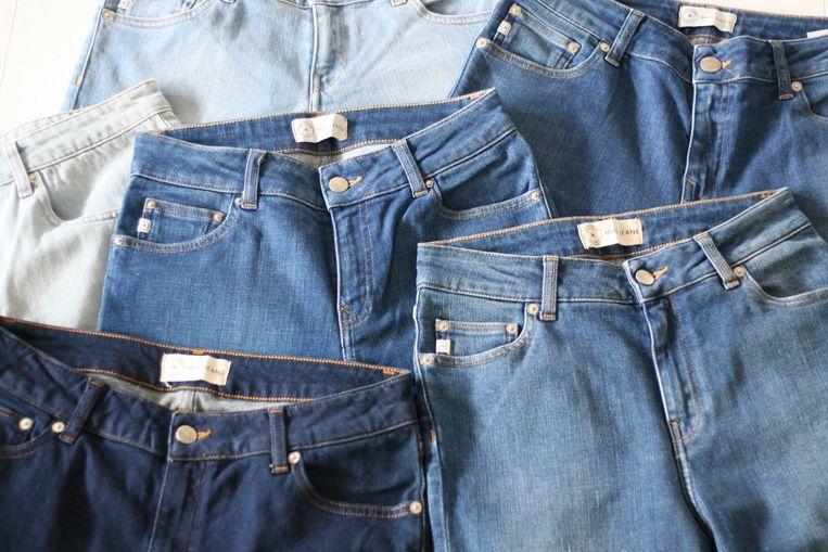 De productie van een MUD Jeans kost gemiddeld 92 procent minder water en 69 procent minder energie dan die van een 'gewone' spijkerbroek. Beeld Mud Jeans