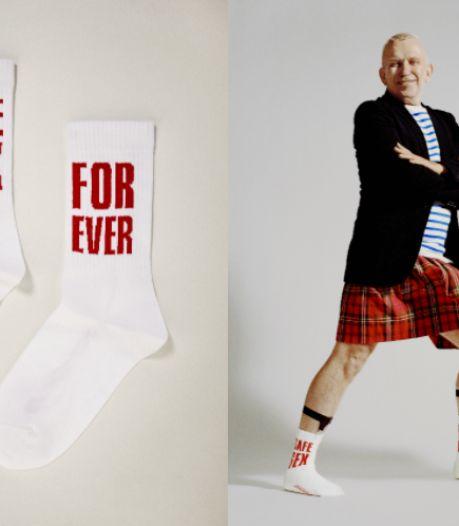 """""""Safe Sex Forever"""": Jean Paul Gaultier dévoile une paire de chaussettes pour le Sidaction"""