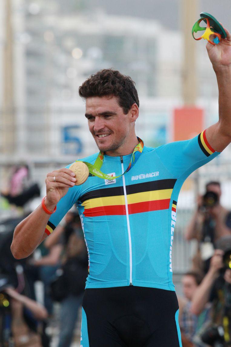 'Ik zou mijn gouden medaille op de Spelen voor niets willen ruilen, ook niet voor een Ronde van Vlaanderen.'  Beeld BELGAIMAGE