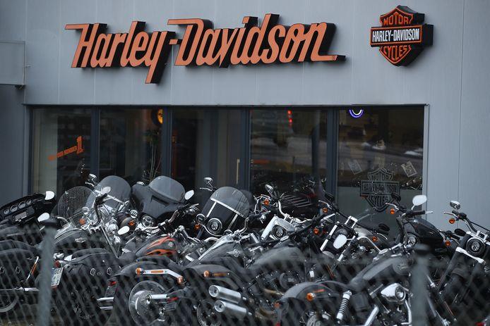 Een Harley Davidson-winkel in het Duitse Potsdam.