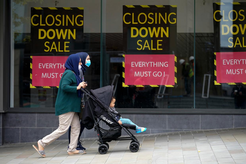Tal van handelszaken overleven de coronacrisis niet, en dan moet de brexit nog komen.  Beeld Getty Images