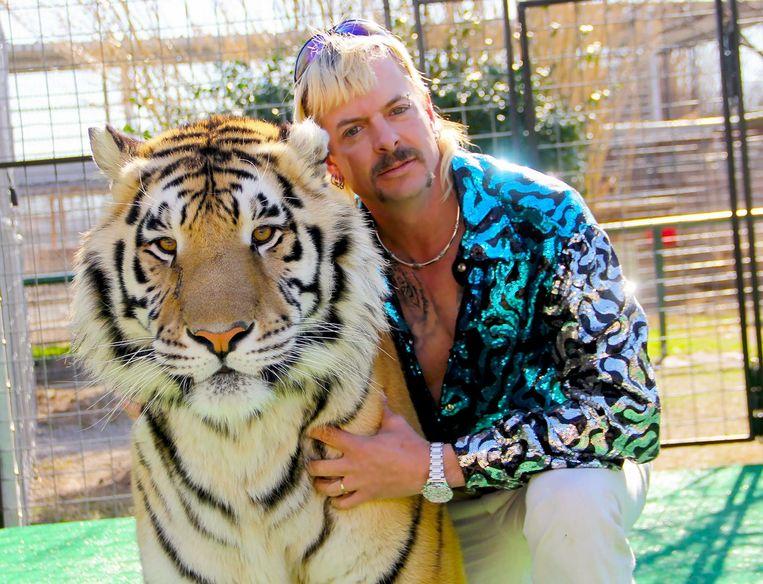 Joe Exotic, hoofdrolspeler in de Netflix-serie 'Tiger King'. Beeld AFP