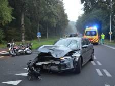 Motor botst op Audi in Vorden: motorrijder zwaargewond
