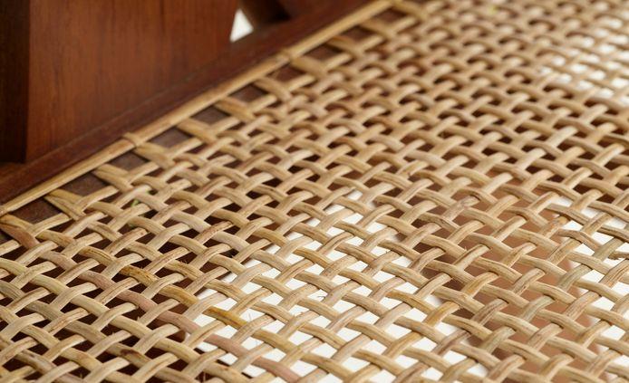 Close-up van de webbing-techniek.