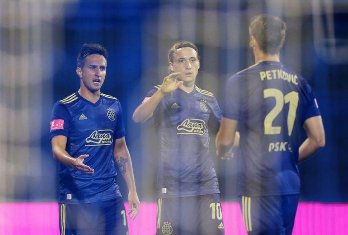 Mario Gavranovic (links) scoort voor Dinamo Zagreb aan de lopende band.