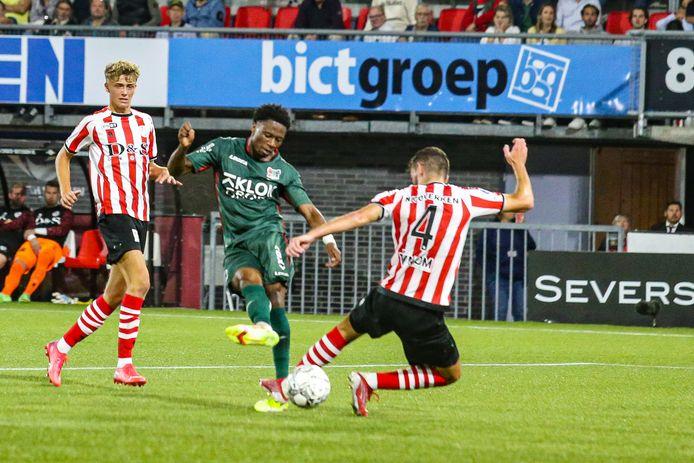 ROTTERDAM, 17-09-2021, Het Kasteel. season 2021 / 2022, Dutch Eredivisie, Sparta - NEC, NEC player Jonathan Okita scores 0-1