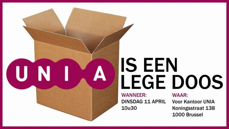Unia is een lege doos Beeld RV