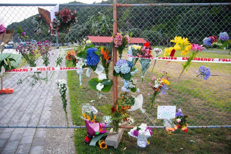 Bloemen voor de slachtoffers. Beeld AFP